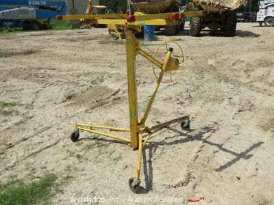 "Telpro Inc Model 439 14' Chain Drive Drywall Panellift With 6"" Casters bidadoo"
