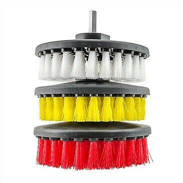 Chemical Guys Carpet Brush with Drill Attachment Light/Medium/Heavy Duty Set