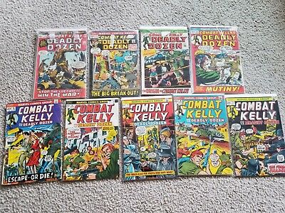 Combat Kelly & the Deadly Dozen - COMPLETE MARVEL SERIES (Good-Fine/Very Fine)