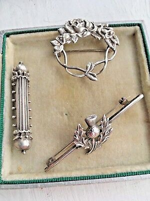 Silver Antique Brooches