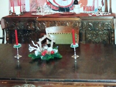 Dining room set (antique) 4 pieces including table, hutch, sideboard and buffet.