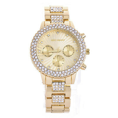 4065ad6c42ed Lady s Fashion Bling Bling Iced Out Gold Plated Metal Watches WM 8806 G