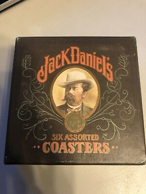 Vintage Jack Daniels Bar Coasters in Orig. Box. Total 6 Coasters