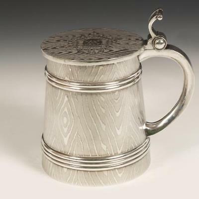 Antique Imperial Russian 84 silver tankard by Kuzmichev Stein
