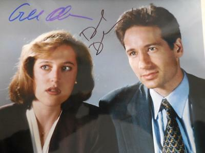DAVID DUCHOVNY & GILLIAN ANDERSON X-Files Signed Autographed 8X10 Photo
