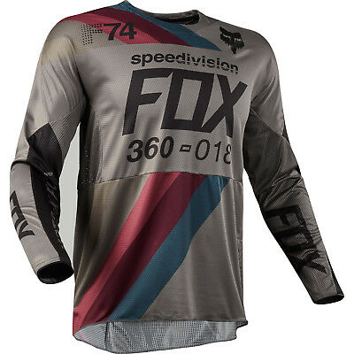 Fox - 360 Draftr Charcoal Men Jersey - 2X-Large