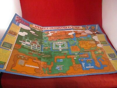 The Legend of Zelda A Link to Past Super Nintendo SNES Map Poster Insert #J3