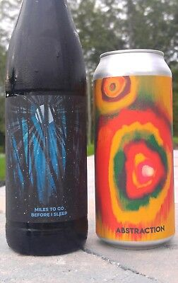 TreeHouse Brewing Miles To Go Before I Sleep - Bottle new brew and Abstraction