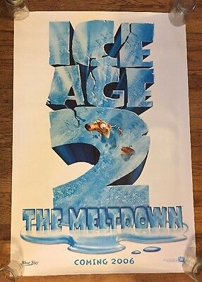 ICE AGE 2 THE MELTDOWN MOVIE POSTER 1ST ADVANCE Promo Only Rare Not A Reprint