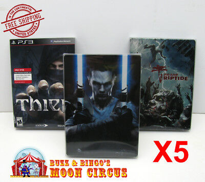5x PLAYSTATION PS3 CIB GAME DVD STEELBOOK G1 - CLEAR PROTECTIVE BOX PROTECTOR
