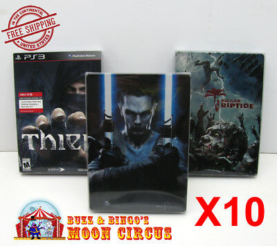 10x PLAYSTATION PS3 CIB GAME DVD STEELBOOK G1 - CLEAR PROTECTIVE BOX PROTECTOR