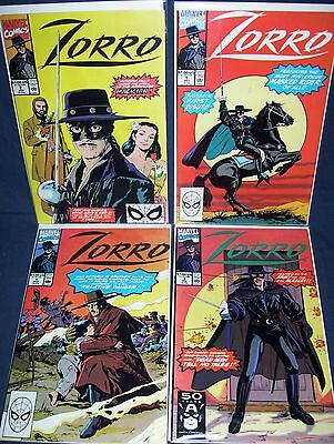 Zorro #1 - #4 Marvel Comics with Bag and Board