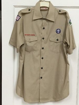 Mens Large Official Scout Uniform Shirt