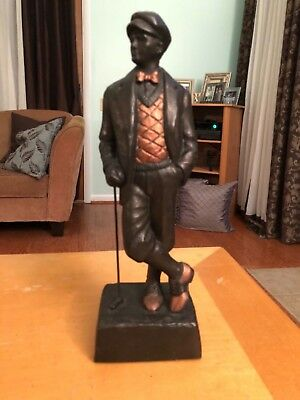 "Vintage signed 1993 West Art Golf statue in good condition stands 17"" tall"
