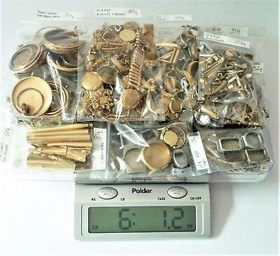 HUGE GOLD FILLED Scrap Lot – 6 POUNDS - Watch Cases, Jewelry and More - Must See