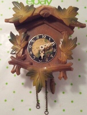 Vintage Black Forest Style Cuckoo Clock As-Is For Repair Or Replacement Parts
