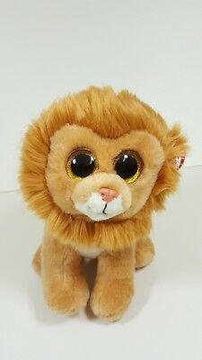 """TY Beanie Babies 10"""" Plush LOUIE the LION - Mint condition with tags"""