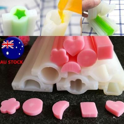 Heart Square Tube Pipe Silicone Soap Mold DIY Baking Tools Hand Craft Supplies