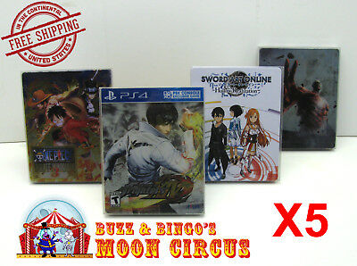 5x SONY PS4 CIB GAME BLU-RAY STEELBOOK G2 - CLEAR PROTECTIVE BOX PROTECTOR CASE