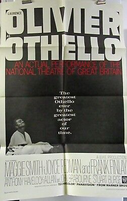 Othello Laurence Olivier original folded American one-sheet movie poster