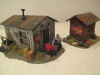 Lot Of 2 Highly Detailed & Weathered  Ho Scale Sheds Shacks ,out Buildings