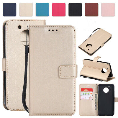 For Motorola Moto C G5 Plus Deluxe Magnetic Flip Leather Wallet Stand Case Cover