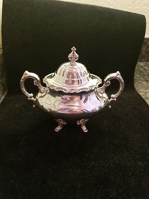 Reed and Barton Sterling Silver #670 Sugar Bowl & Lid, Excellent, 446 grams