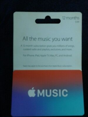 Apple Music Gift Card 100 70 00 Picclick