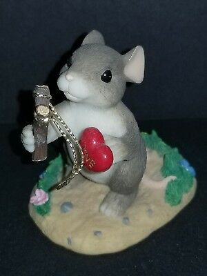 Fitz & Floyd CHARMING TAILS Mouse Figurine GIVE LOVE A SHOT 84/109 EXCELLENT