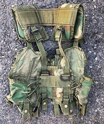 Real US MILITARY TACTICAL LOAD BEARING VEST - LBV Woodland Camo