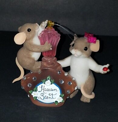 """Charming Tails """"Mom You're Heaven Scent"""" Dean Griff Perfume bottle EXCELLENT CON"""
