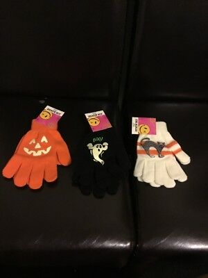 Three Pairs Of Joe Boxer Halloween Themed Magic Gloves - New With Tags