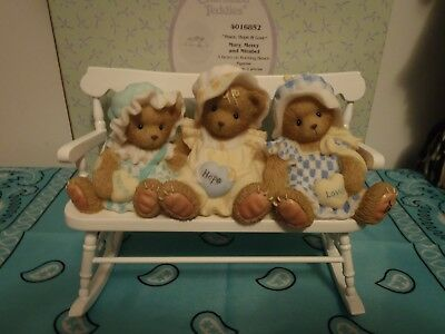 "Cherished Teddies Mary, Mercy, and Mirabel # 4016852  ""Peace, Hope and Love"""