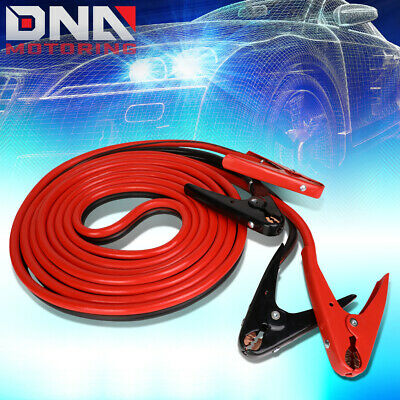 20' 600Amp Car Battery Booster Cable 2 Gauge Emergency Power Jumper Heavy Duty