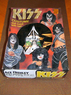 Kiss Ace Frehley Collegeville Sz Med Halloween Costume Original 1978 NEW In Box