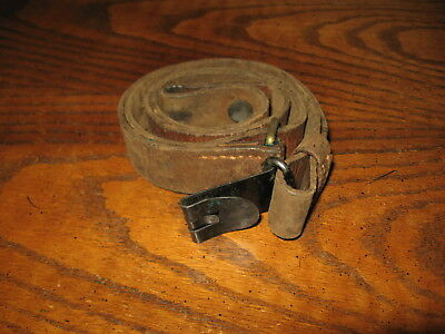 """Swedish leather Mauser sling m1896 m96 m38 6.5x55 good used 1 1/4"""" wide"""