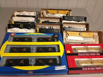 Lot of 17 N.O.S. C9 Athearn,Roundhouse,Atlas Chessie Hoppers! L@@K!! Last Call!