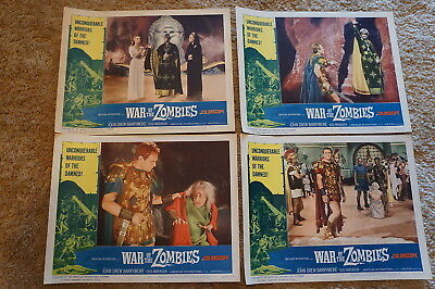 War Of The Zombies  Horror  Sword & Sandal Fantasy   8 Card Lobby Set  1965