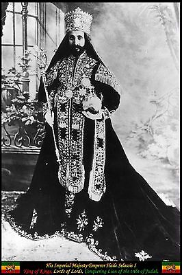 Haile Selassie I Poster, H.I.M, Rastafarian, Emperor of Ethiopia, King of Kings