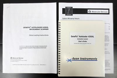 GenePix Autoloader 4200AL Microarray Scanner 3 Manuals Guides, Molecular Devices