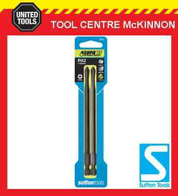2 x SUTTON IMPACT PHILLIPS HEAD PH2 x 150mm POWER INSERT BITS FOR IMPACT DRIVERS