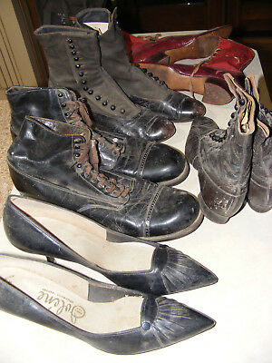 Group of Vintage Antique Old Connolly Shoes