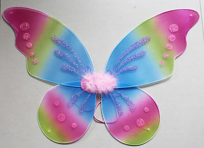 AU Halloween Fairy Wings with Glitter Fancy Dress Costume Dressing Up Adult Kids