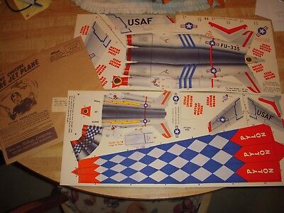 Vintage Cereal Premium F-86 Whip Plane Original Kellogg Mailer They're GREAT!!