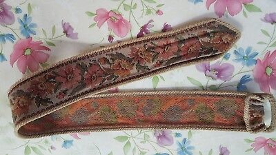vintage fabric tapestry belt. fall colors 31 1/2in long