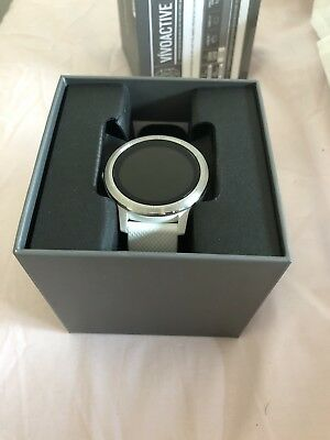 Garmin Vivoactive 3 Sports Watch - White/Silver - Barely Used - In Original Box
