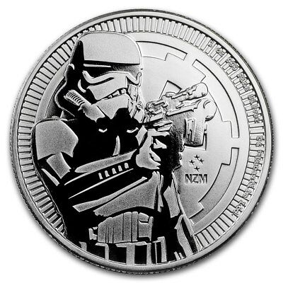 Lot of 2-Star Wars Stormtrooper 1 oz Silver $2-BU LIMITED 2018 Niue