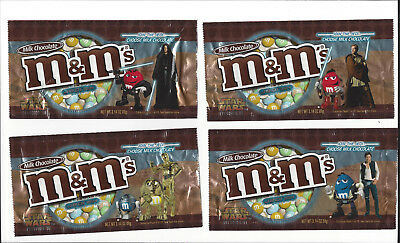 Complete set of 24 M&M Star Wars candy wrappers