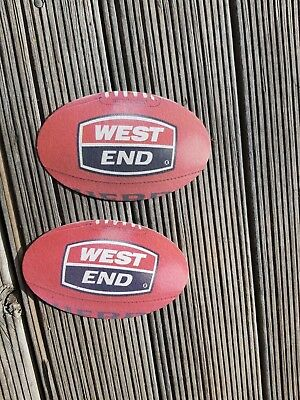 2X West End Sherrin Football Shaped Beer Coasters