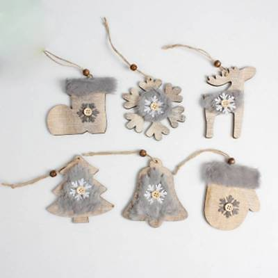 Wooden Christmas decor Rustic Christmas Tree Decor Hanging Ornament for Home